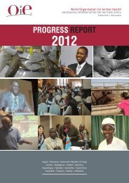 2012 progress report - OIE Africa