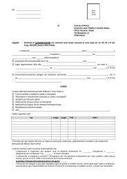 Modulo richiesta autorizzazione per interventi ... - Comune di Rimini