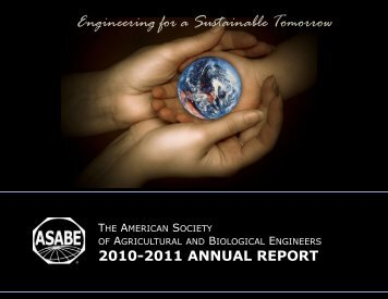 Engineering for a Sustainable Tomorrow - American Society of ...