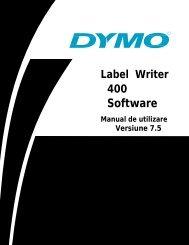 Manual utilizare LW 400 - DYMO