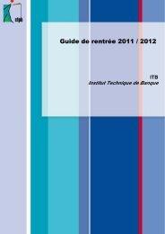 [pdf] ITB - Organisation de la formation et informations ... - CFPB