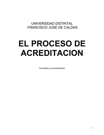Cartilla CNA - Acreditación U.D. - Universidad Distrital Francisco ...