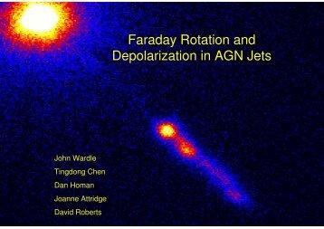 Faraday Rotation and Depolarization in AGN Jets
