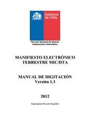 Manual MICWEB - Servicio Nacional de Aduanas