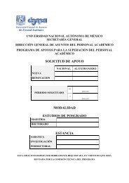 Formato de solicitud - dgapa unam - Universidad Nacional ...