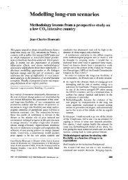 Modelling long-run scenarios - Centre International de Recherche ...