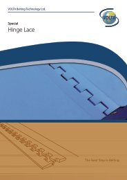 Hinge Lace - Volta Belting Technology Ltd.
