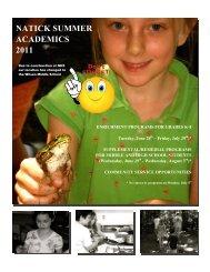 Natick Summer Academics Brochure - Natick Public Schools