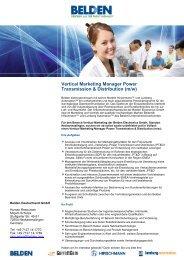 Vertical Marketing Manager Power Transmission & Distribution (m/w)