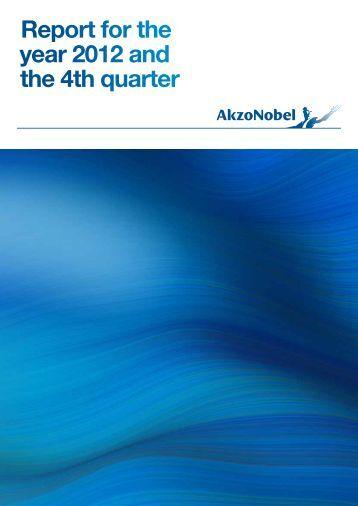 Q4 and Full Year 2012 Report - AkzoNobel