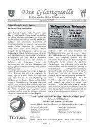 Die Glanquelle - Ausgabe 09/2008 - Höchen