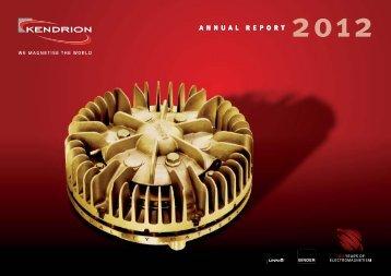 Kendrion Annual Report 2012 - Jaarverslag