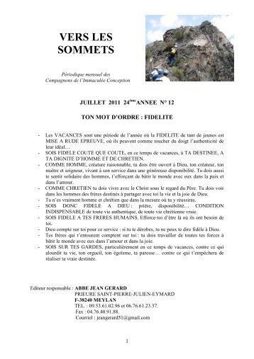 Vers les sommets de juillet 2011 - Ton mot d'ordre - La Porte Latine