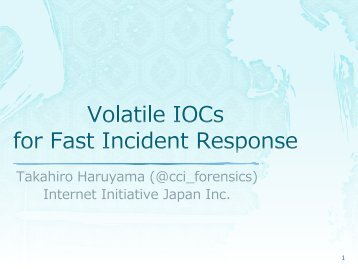 Volatile-IOCs-for-Fast-Incident-Response-Haruyama