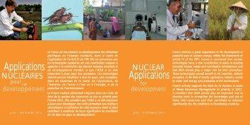 Applications nucléaires pour le développement - France TNP