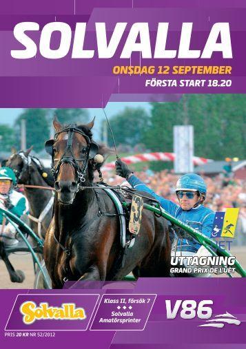 12 september - Solvalla