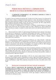 norme per il prestito e la riproduzione dei beni culturali ... - Webdiocesi