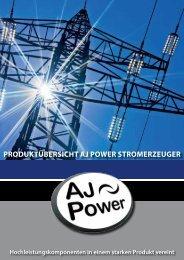 Stromerzeugerreihe - Mobile und stationäre Stromaggregate