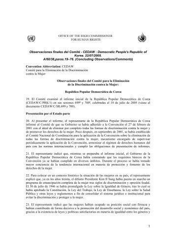 Observaciones finales del Comité - CEDAW : Democratic ... - Acnur