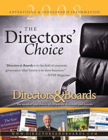 2008 directors - Directors & Boards