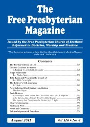August - the Free Presbyterian church of Scotland