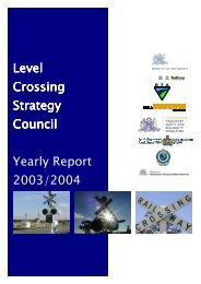 Level Crossing Strategy Council - Yearly Report 2003/04 (pdf 1MB)