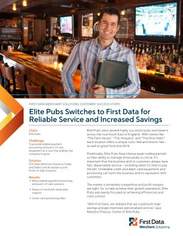 Elite Pubs Case Study Download PDF - 956 KB - First Data