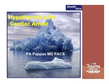 Hypothermia after Cardiac Arrest - Health First