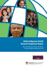 Global Indigenous Health Research Symposium Report - Centre for ...