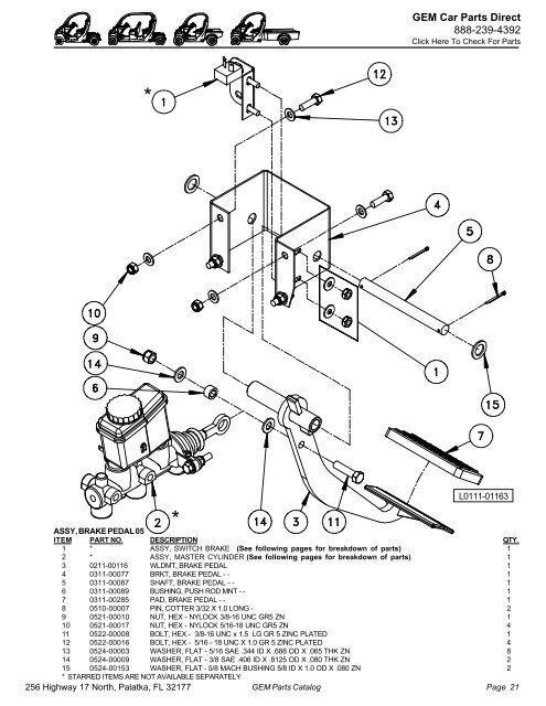 2005 Gem Parts Catalog