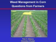 Weed Management in Corn - University of Guelph