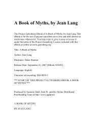 A Book of Myths, by Jean Lang - Umnet