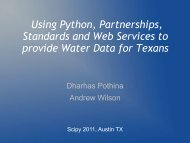 Using Python, Partnerships, Standards and Web Services to provide ...