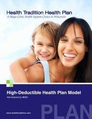 High-Deductible Health Plan Model - Health Tradition Health Plan