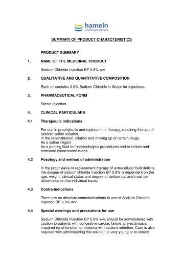 Sodium Chloride SPC 1 - DM Wood Medical