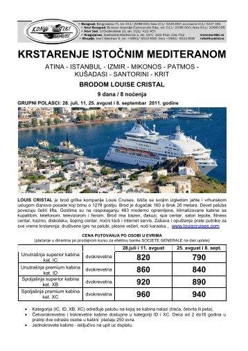 istocni mediteran Cristal - Kontiki
