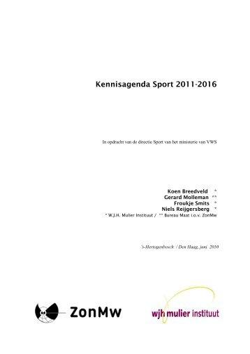 Kennisagenda Sport 2011-2016 - Sport Knowhow XL
