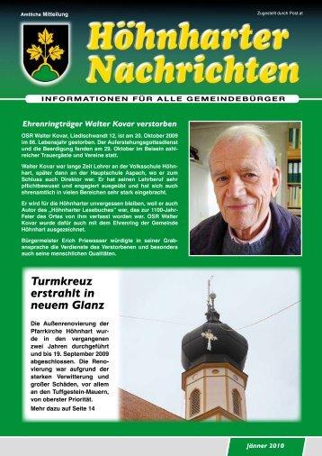 Turmkreuz erstrahlt in neuem Glanz - Höhnhart - Land Oberösterreich