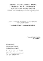 ministerul educaţiei al republicii moldova universitatea de stat