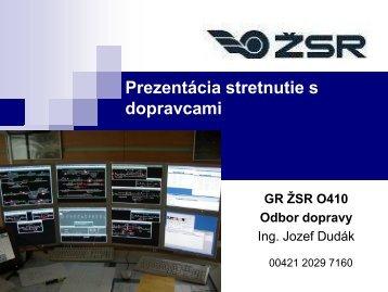 Prezentácia stretnutie s dopravcami - ŽSR