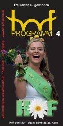 TERMINE - Hof Programm