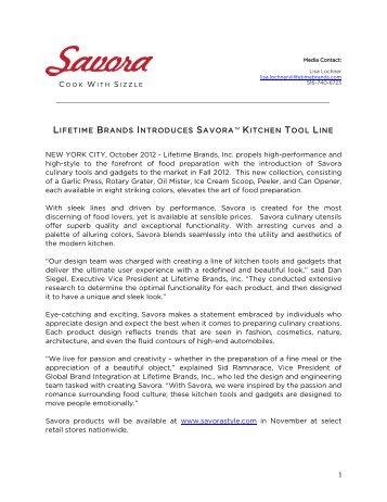 LIFETIME BRANDS INTRODUCES SAVORA™ KITCHEN TOOL ...