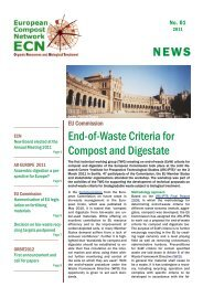 NEWS End-of-Waste Criteria for Compost and Digestate - European ...