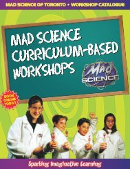 175/workshop + HST • Morning or afternoon classes - Mad Science