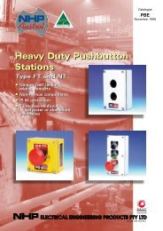 Heavy Duty Pushbutton Stations Heavy Duty Pushbutton ... - NHP
