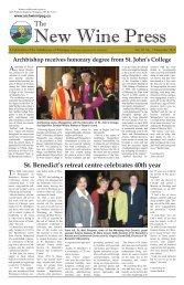 Volume 10 #5 - December, 2010 - Archdiocese of Winnipeg
