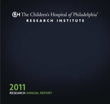 research annual report - The Children's Hospital of Philadelphia ...