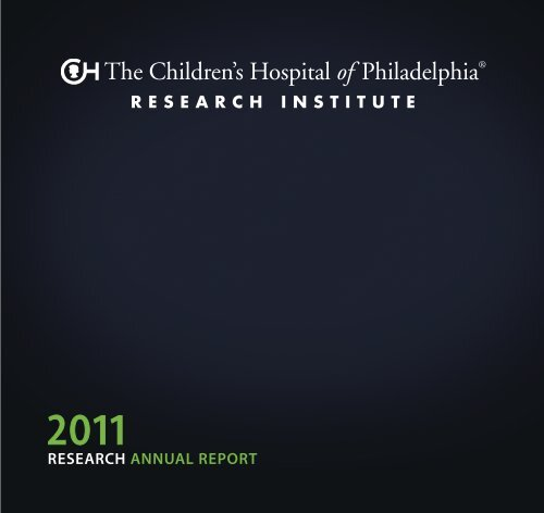 research annual report - The Children's Hospital of