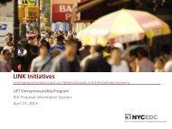 LIFT Entrepreneurship Program - NYCEDC