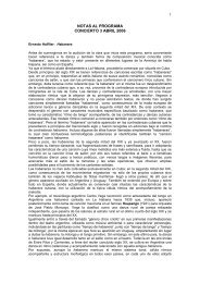 notas al programa - Orquesta y Coro de la Comunidad de Madrid